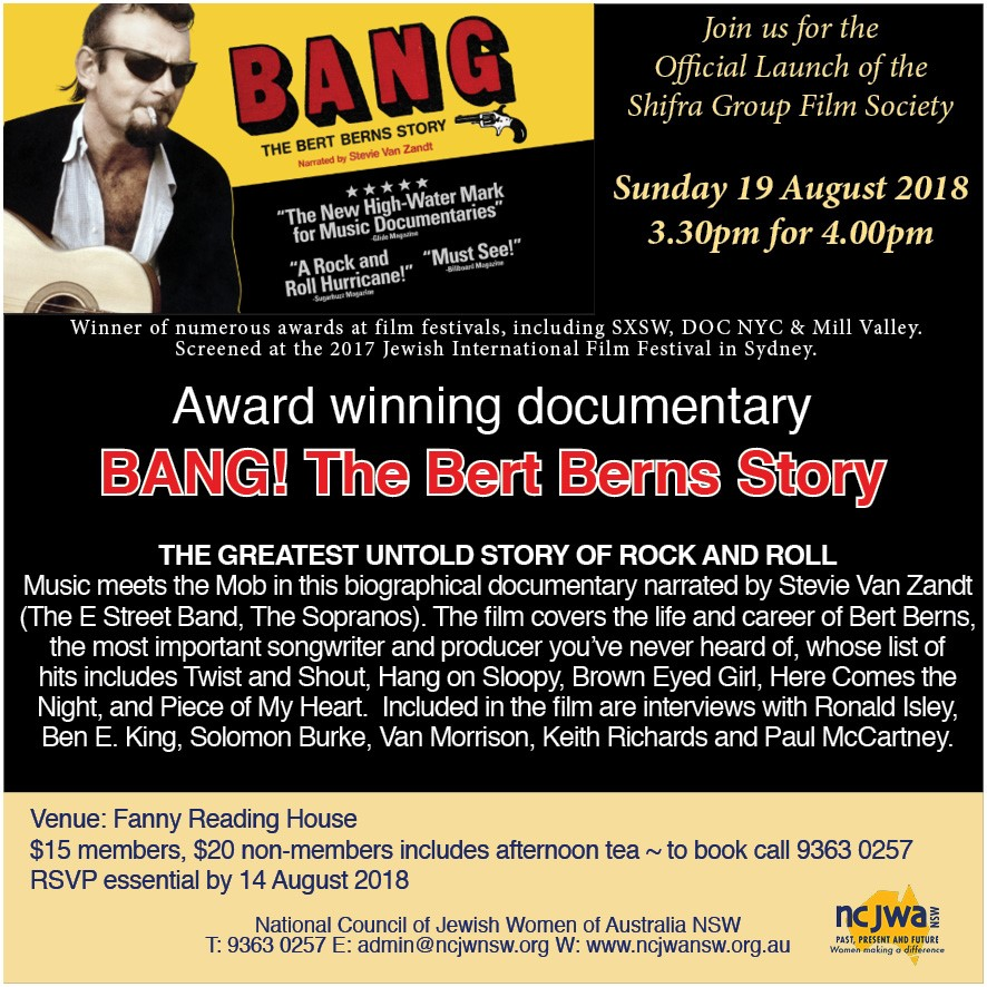 Bang! The Bert Berns Story 19.08.18