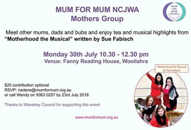 Mothers Group 30 July 2018
