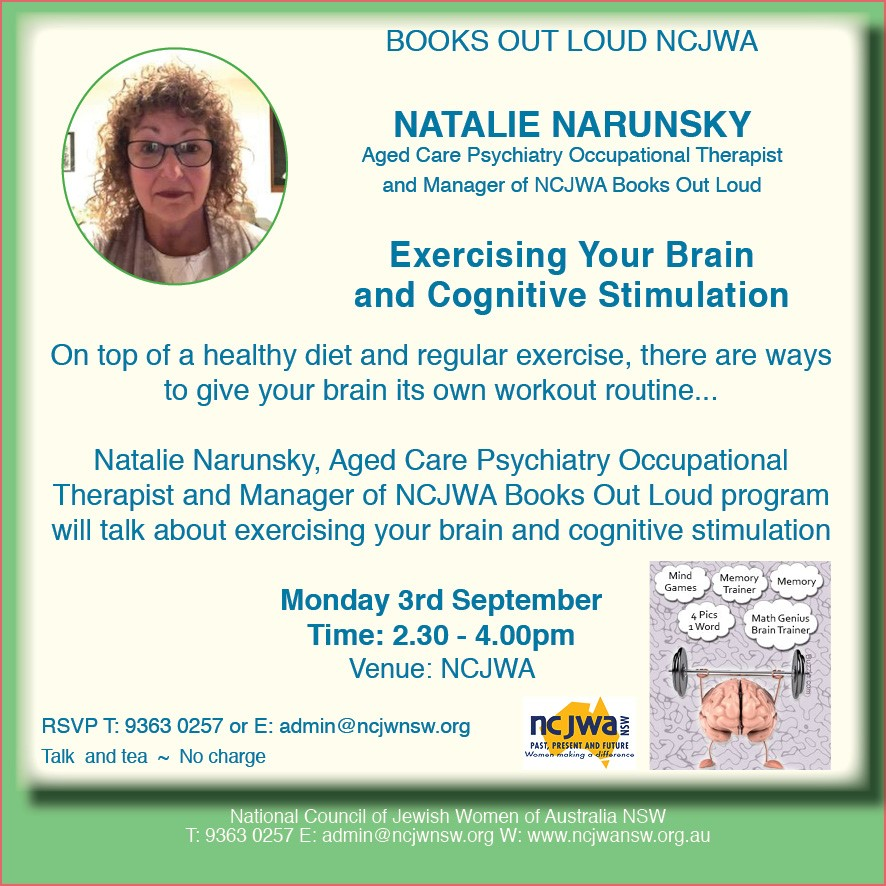 Natalie Narunsky - Exercising Your Brain and Cognitive Stimulation