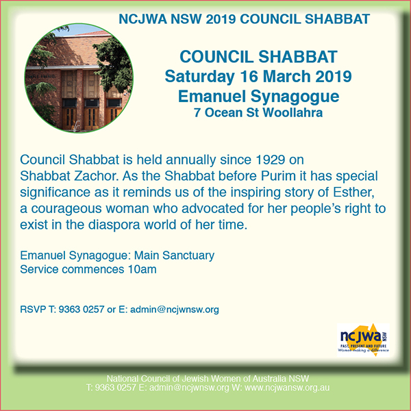 Council Shabbat 2019 W